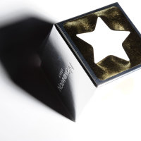 cartoncino-patinato-forma-a-cubo-impresso-oro,-argento-e-rosso-lucido,-bianco-pastello-e-rilevato-a-secco-fustellato